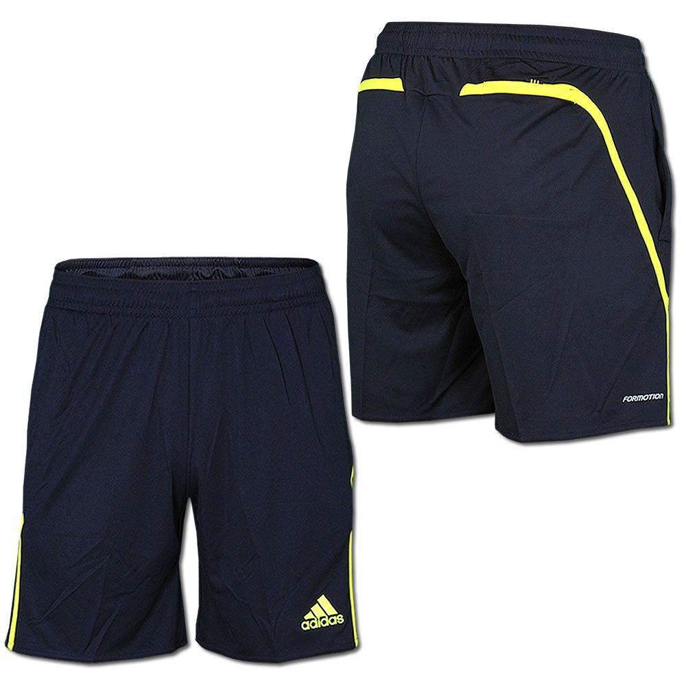 Adidas Referee Short, 100% Polyesster, schwarzgelb