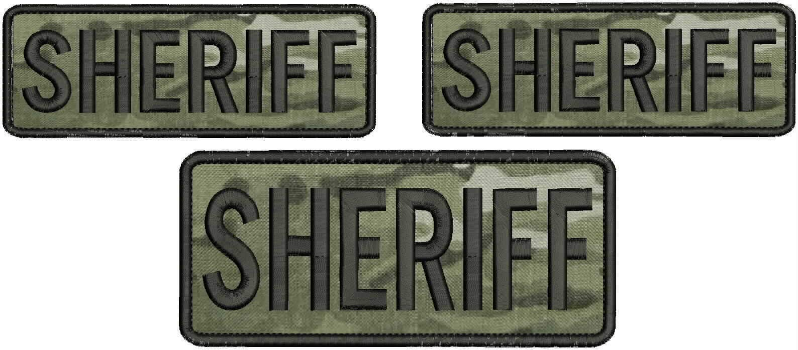 Embroidered Patch - Patches for Women Man - Sheriff Hook Multicam by Patcherer