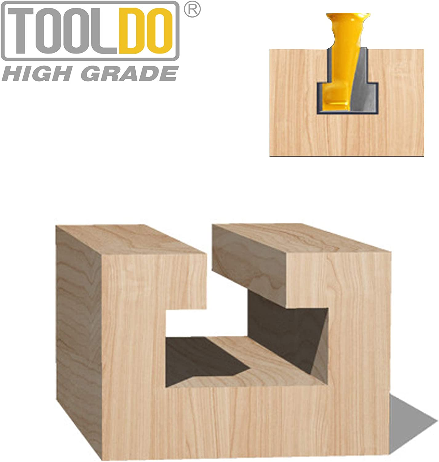 1//4 Inch Shank Keyhole Router Bit Set 3//8 /& 1//2 Inch Blade Diameter by Tooldo