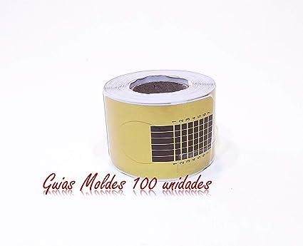 Guias Moldes 100 unidades para Uñas Postizas de gel, acrílico, porcelana -manicur