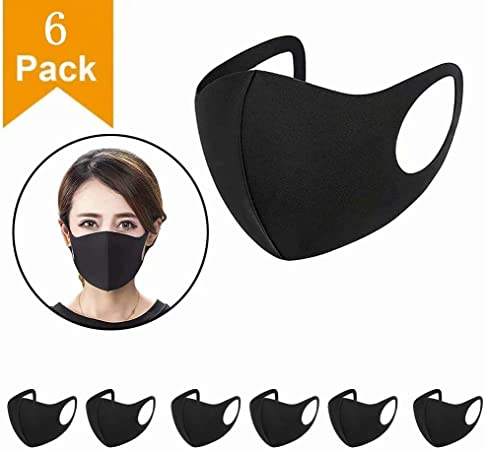 Yutown 6pcs Wearable indoors and outdoors(black)