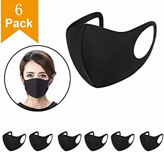 Wearable Indoors and Outdoors(6pcs Black)