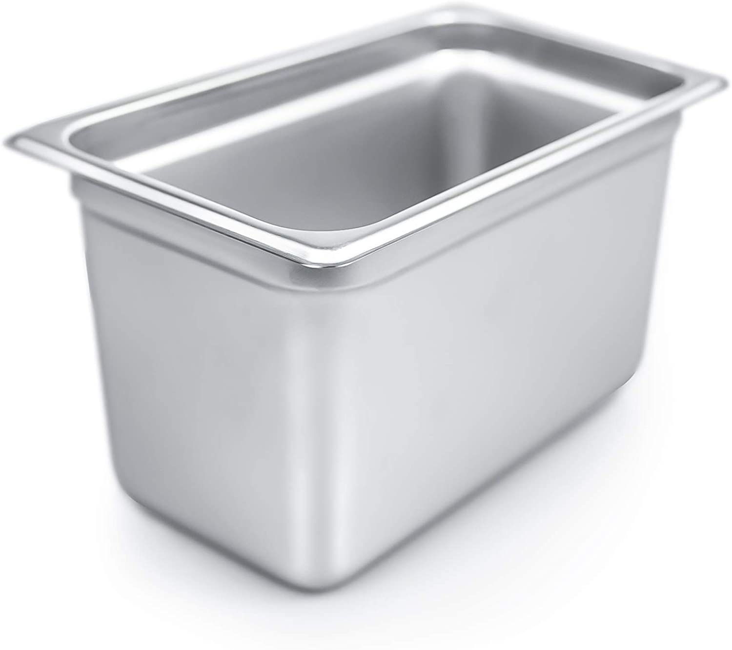 """Stainless Steel Fourth Size 6/"""" Deep Steam Table Pan buffet 1//4th quarter"""