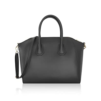 6888dcede77 JENIFER Italian Duffel handbag shoulder purse shoulder strap smooth stiff  genuine leather  Handbags  Amazon.com