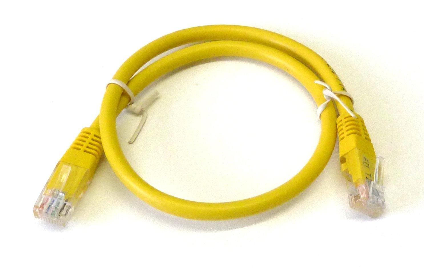 Yellow 05m 50cm Gigabit Network Lan Cable Cat6 Patch Internet Data 4m Cat5e Cat 5e Rj45 Ethernet Lead Wire Computers Accessories