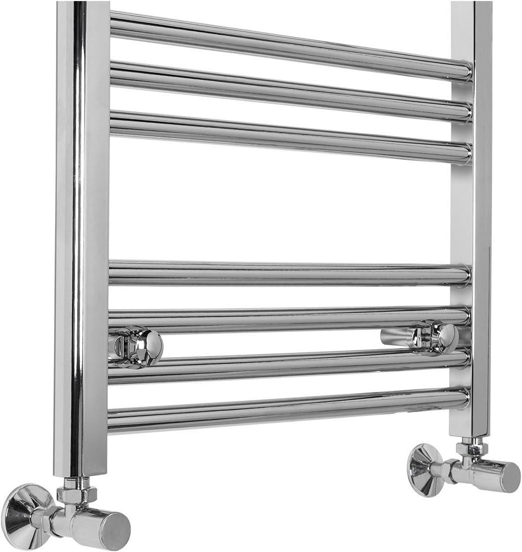 Bergen Scaldasalviette Piatto Termosifone Bagno Design 1600 x 395mm Cromato