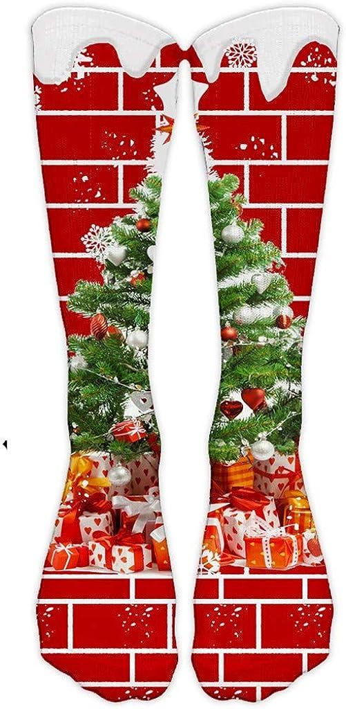 Women Christmas Novelty Crew Stockings Girls Xmas Holiday Fun Colorful Socks Funky Fancy Casual Sock