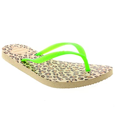 d199126614c0 Womens Haviannas Slim Animal Flat Beach Holiday Flip Flop Sandals Summer   Amazon.co.uk  Shoes   Bags