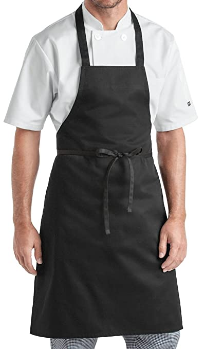 Airwill, 100% Cotton Solid Color Aprons, Sized 65cm in Width & 80cm in Length with 1 Center Pocket, Adjustable Buckle on Top and 2 Long Ties on Both 2 Sides. Pack of 1 Piece
