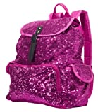 3C4G Magic Sequins Backpack, Fuchsia