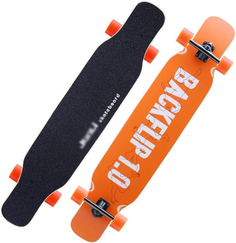 LIUFS-スケートボード プロのスケートスタント四輪ハイウェイダブル厄介なダンスボードブラシストリートメープルボードコンプリートスケートボードクルーザー大人の贈り物 Single-sided printing