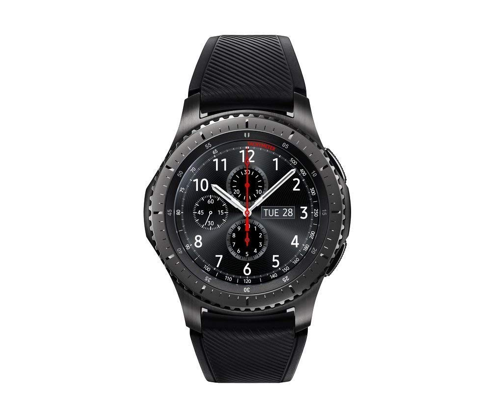 SAMSUNG GEAR S3 FRONTIER Smartwatch 46MM (Bluetooth Only) – Dark Grey (Certified Refurbished)