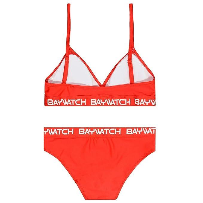 Marine Allover Staccato M/ädchen Bikini mit R/üschen 230070849