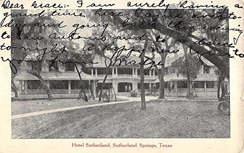 Sutherland Springs Texas Hotel Street View Antique Postcard K79634