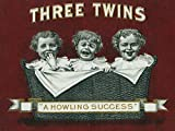 Three Twins Brand Cigar Box Label - A Howling Success (12x18 Art Print, Wall Decor Travel Poster)
