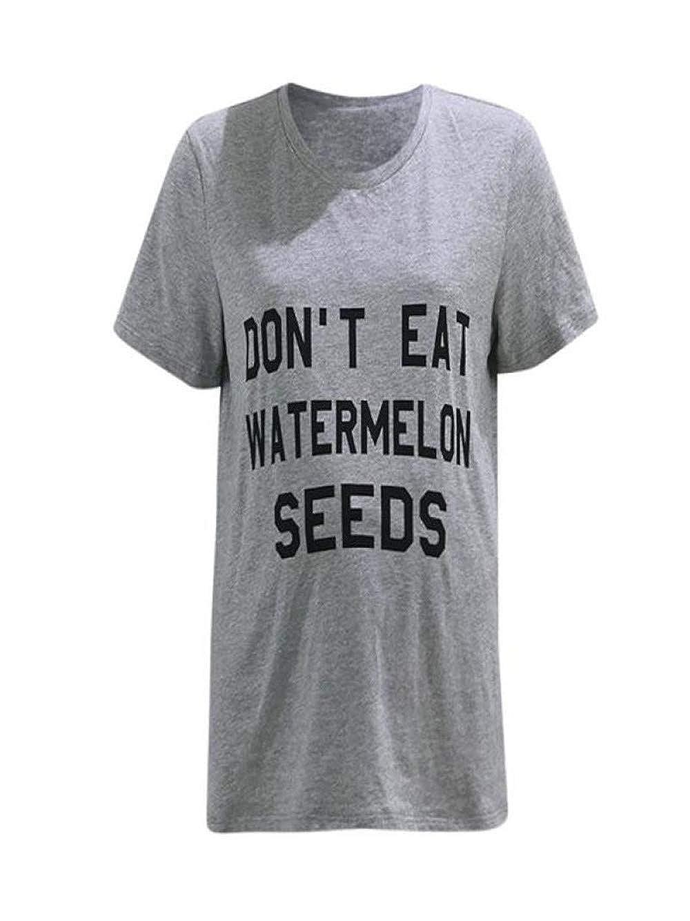 01106070883aa LILICAT Maternity Don't eat Watermelon Seeds Funny Food Pregnancy Shirt  Women Maternity Nursing Vest Top Letter Print Pregnant Breastfeeding Tank  Tops ...