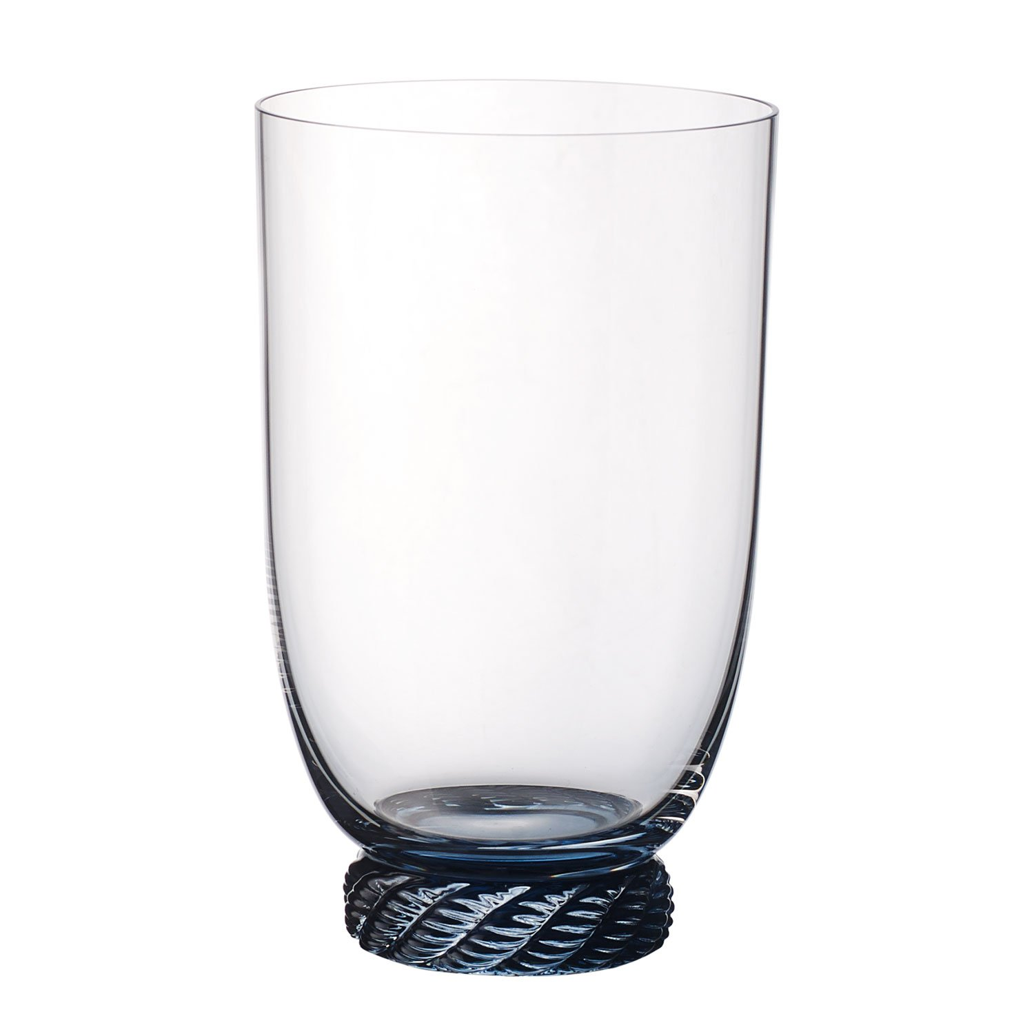 Villeroy & Boch Montauk Aqua Tumbler, 560 ml, Crystal Glass, Transparent/Blue