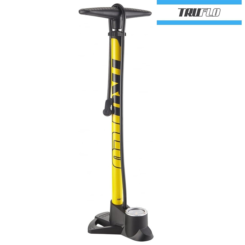 Truflo Easitrax 3 pista bicicleta bomba con doble cabeza (Presta y Schrader) y calibre: Amazon.es: Deportes y aire libre