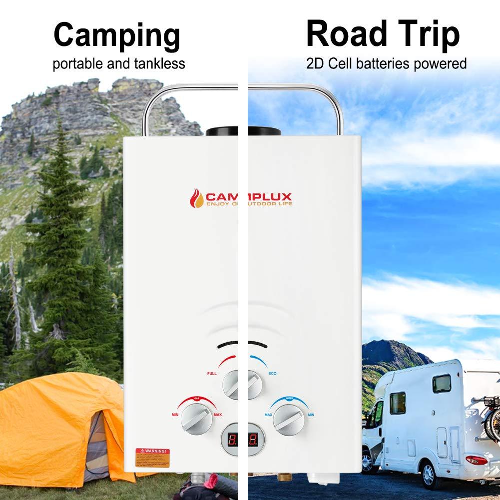 Einsatzbereiche Camping Durchlauferhitzer