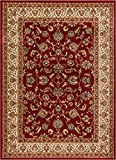 Well Woven Barclay Sarouk Red Traditional Area Rug 5'3'' X 7'3''