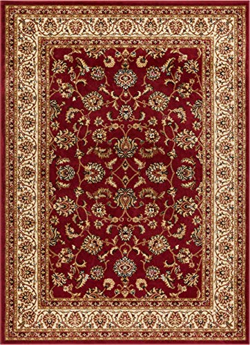 Well Woven Barclay Sarouk Red Traditional Area Rug 6'7'' X -