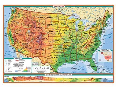 Rand McNally Physical-Political United States and World Desk Maps, Set of 100 ()