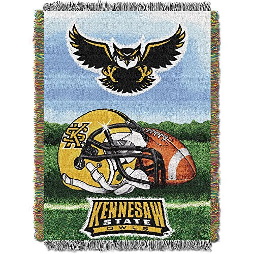 Northwest COL 051 HFA Kennesaw State Owls NCAA Woven Tapestry Throw (Home Field Advantage) (48