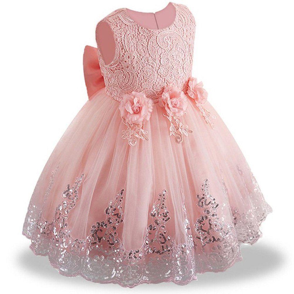 f42d072e1b2 LZH Girls Dress Wedding Pageant Party Princess Gown Prom Bridesmaid Dresses   Amazon.co.uk  Clothing