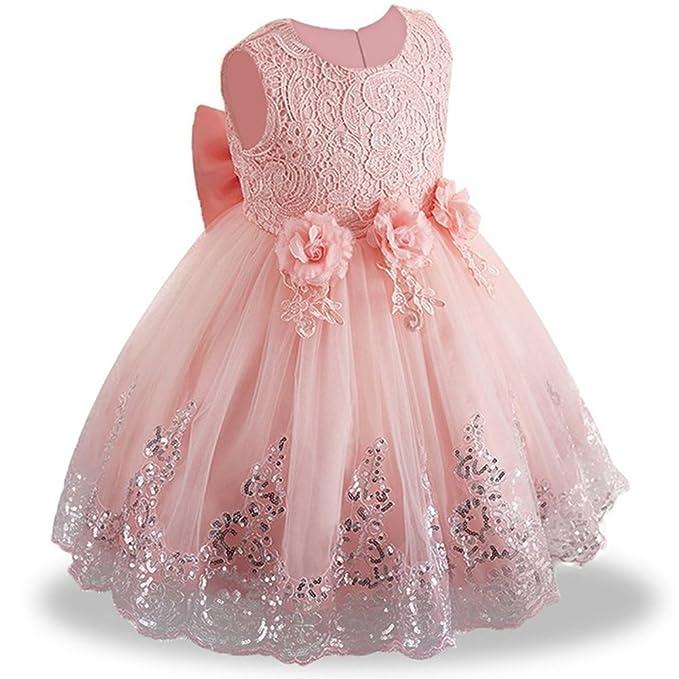 6f04289fe5 LZH Bebes Vestido Elegant Princesa Cumpleaños Partido Boda Vestidos cóctel  Ceremonia Vestirse  Amazon.es  Ropa y accesorios