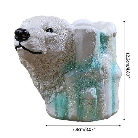 Organizador de escritorio con forma de oso polar: Amazon.es: Hogar