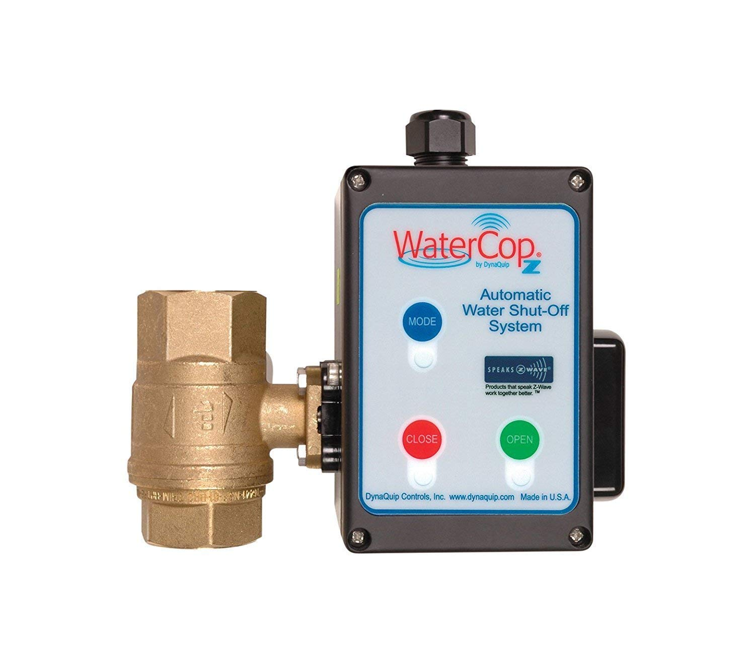 WaterCop Z-Wave Smart Water Shut-Off Valve 1-1/4'' Kit (Actuator and 1.25 In Valve) Leak Prevention