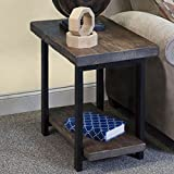 Alaterre AMBA0120 Pomona End Table in Rustic Natural,