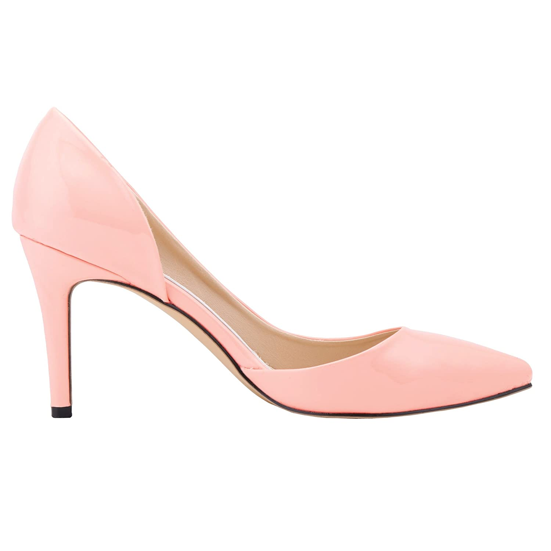 FLYRCX Elegantes Temperament der europäischen Art und Weise zeigte Bunte Schuhe der einzelnen Stilettfersen-Damen Einzelne, die Hochzeitsschuh-Büroarbeitsschuhe Wedding sind B07JNC246X Tanzschuhe Erschwinglich