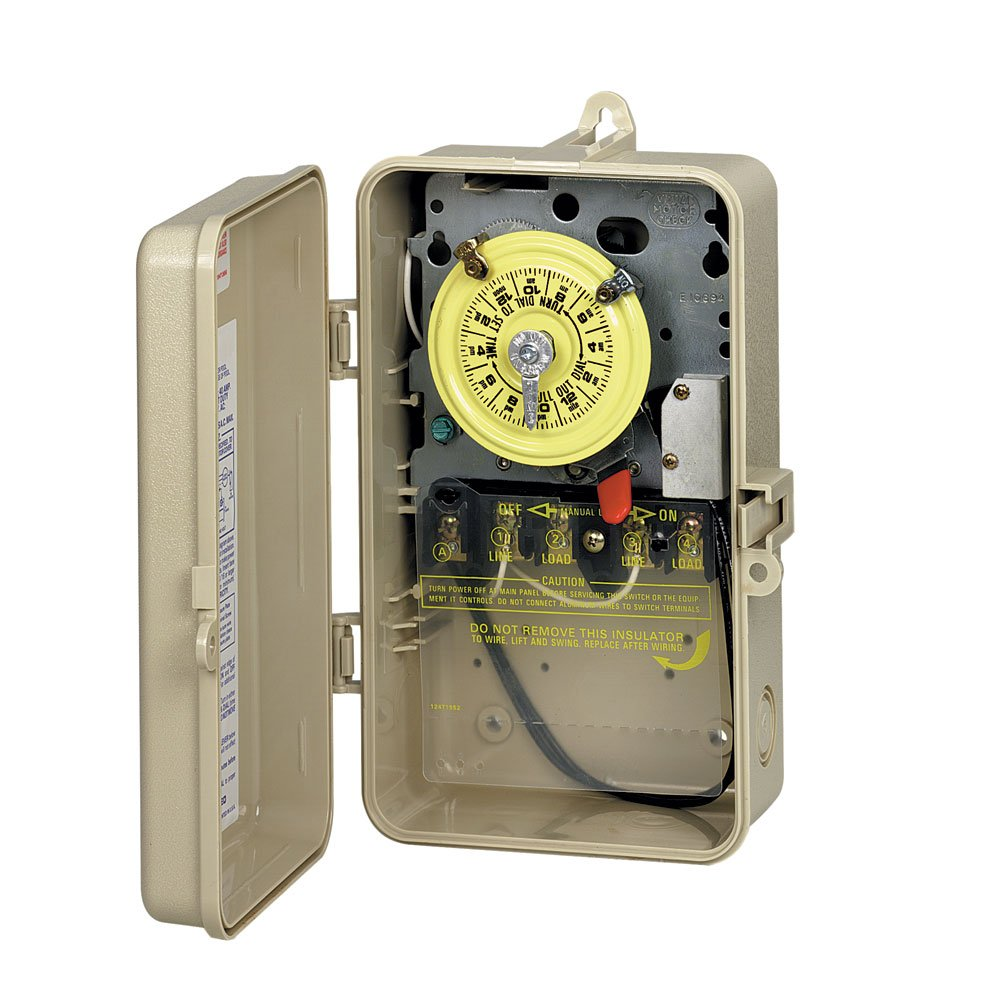 Amazon pool timers patio lawn garden intermatic t101p201 24 hour mechanical time switch in enclosure with pool heater protection freerunsca Choice Image