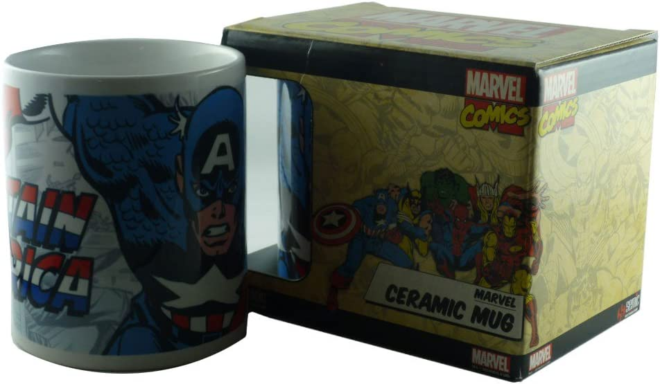 Marvel Comics – Taza de cerámica (– Captain America – Runner – Se envía en una caja de regalo: Amazon.es: Hogar