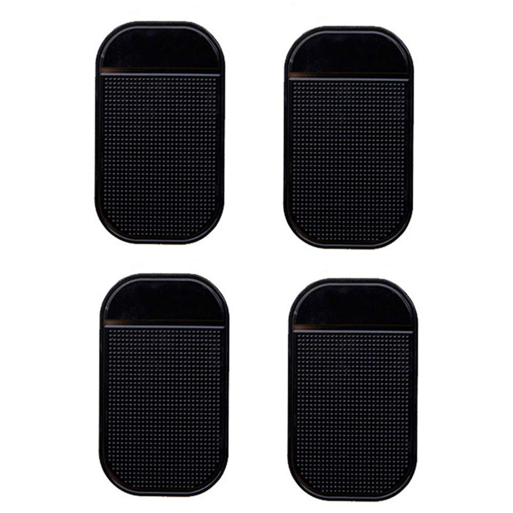 Tcplyn Premium Quality Anti-Slip Mat - 4 PCs Black Magic Sticky Pad Anti Slip Mat Car Dashboard for Cell Phone