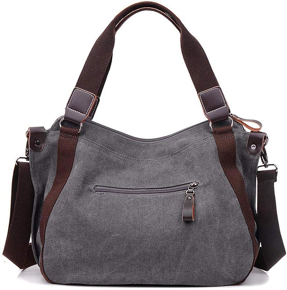 FTSUCQ Womens Canvas Vintage Shoulder Bag Travel Tote School Bags Shoulder Satchels