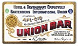 Union Hotel And Restaurant Reproduction Bar Sign 12''x18''