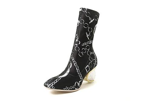 Botines de tacón Cuadrado con tacón Cuadrado para Mujer: Amazon.es: Zapatos y complementos