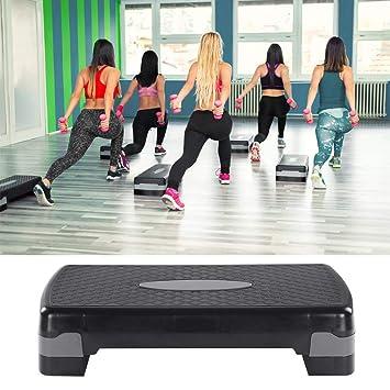 AYNEFY Plataforma Fitness Step, 2 Capas de Altura Ajustable (10 cm ...