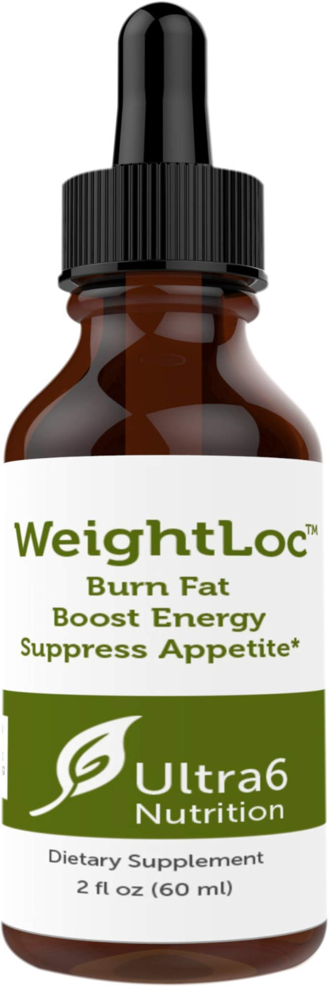 Weightloc Drops by Ultra6 Nutrition - Concentrated Liquid Energy - Enhance Mood and Suppress Appetite and Fat Burner by Ultra6 Nutrition