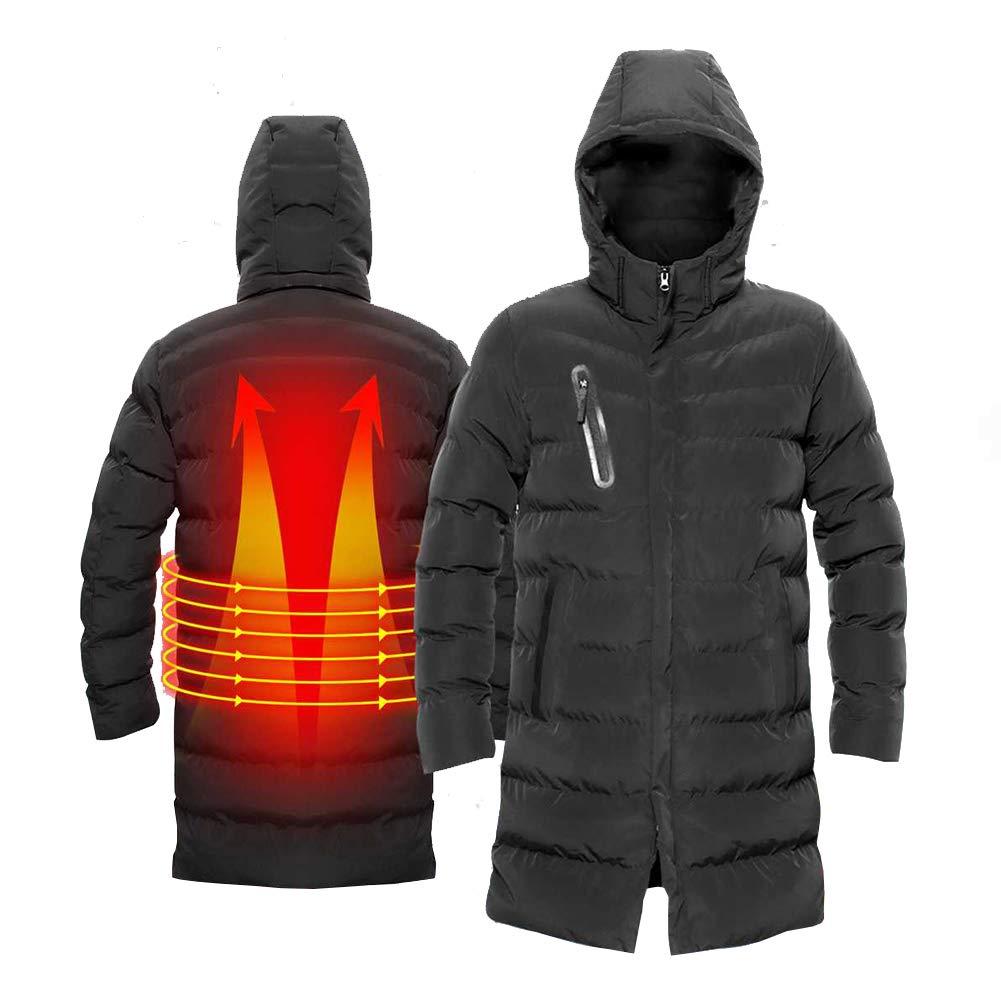 Heatile USB Beheizte Weste Kohlefaserheizung Schnelle Erhitzung Passt Winter ski Wandern Camping Angeln für Männer und Frauen (Enthält Keine Batterie)