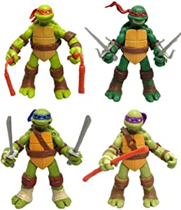 365store Ninja Turtles Action Figures Mutant Teenage Set 4pcs 5in
