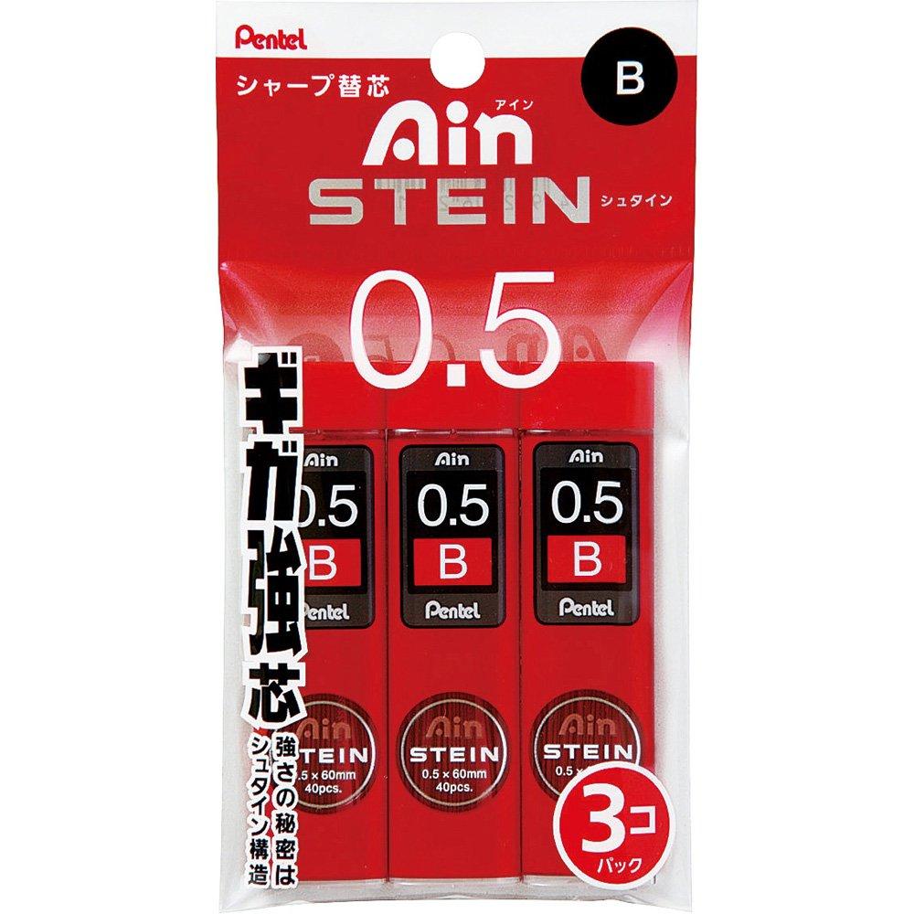 Pentel Ain Stein 120 Minas (3 Tubos) 0.5mm B