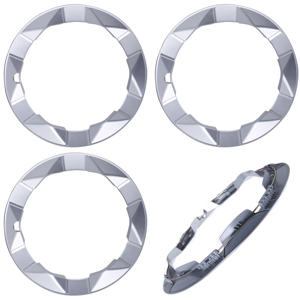 OxGord Trim Rings for Toyota Prius (Pack of 4) 15 Inch Wheel Hub Silver Beauty Ring Covers OX1515TP4PC