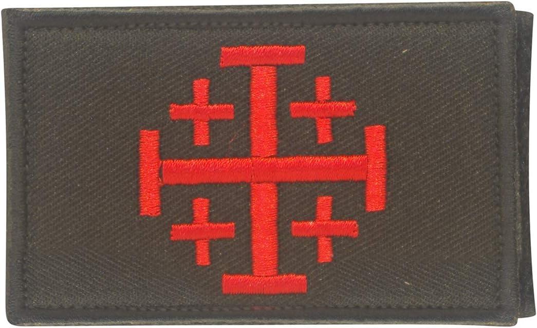 Cobra Tactical Solutions Jerusalem Cross Knights Templar Parche Bordado Táctico Militar con Cinta de Gancho y Lazo de Airsoft Paintball para Ropa de Mochila Táctica: Amazon.es: Hogar