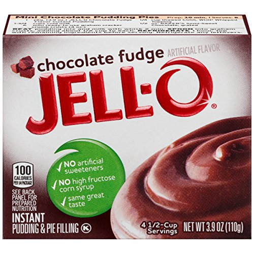Jell-O Instant Pudding and Pie Filling, Chocolate Fudge, 3.90 oz - Instant Chocolate Pudding