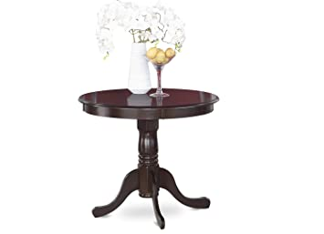 East West Furniture ANT CAP T Round Table, 36 Inch, Cappuccino