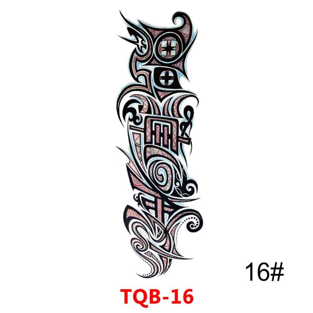 SDEFGH Etiqueta engomada del tatuaje 3 Piezas diseño Impermeable ...