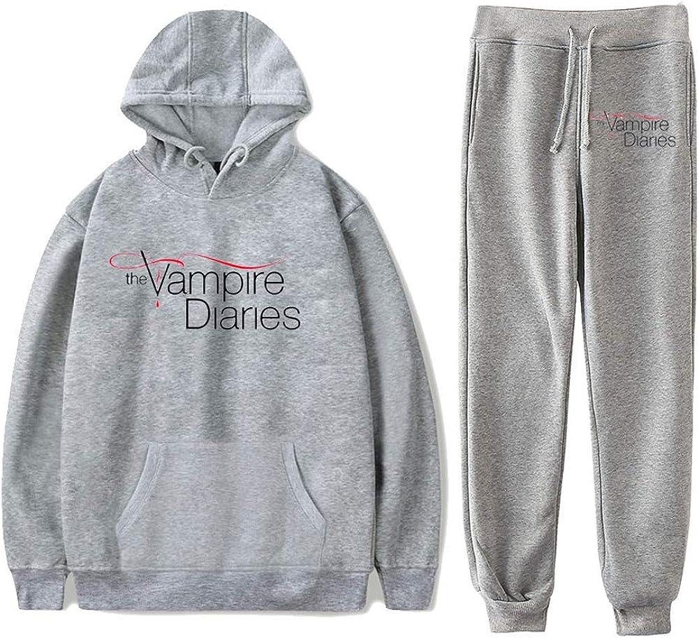 Le Vampire Diaries Sweatshirts Deux Pi/èces Ensemble Surv/êtement Manches Longues Hoodies+Jogger Pantalon Streetwear/&Pantalon Hommes Ensembles